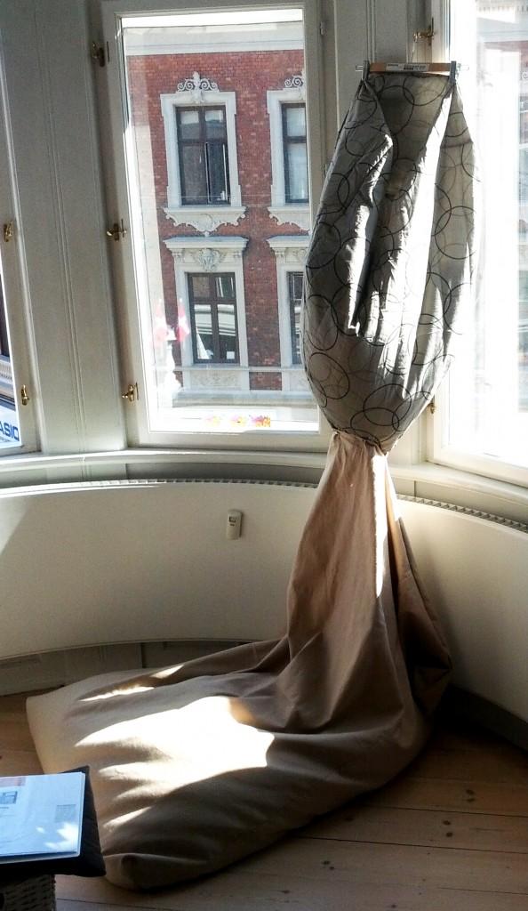 Sækkestolen fyldes med krøyerkugler