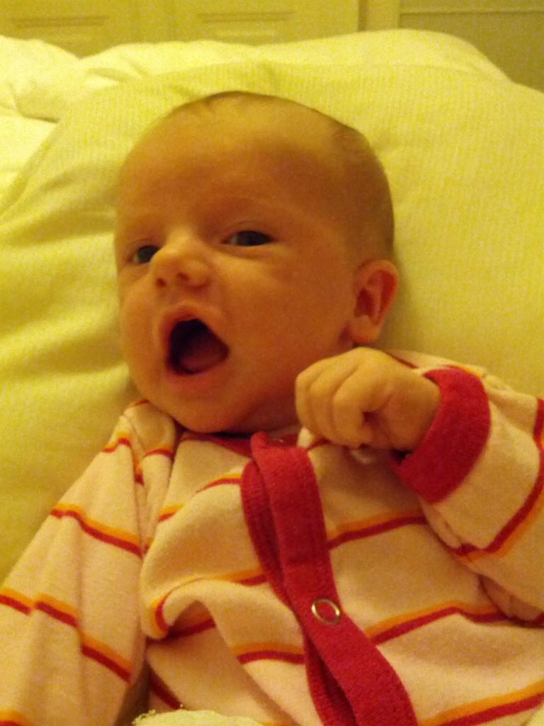 Morgenfriske Ida - 4 uger gammel