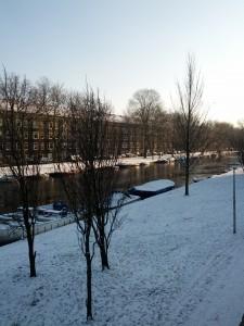 Vintermorgen i Amsterdam