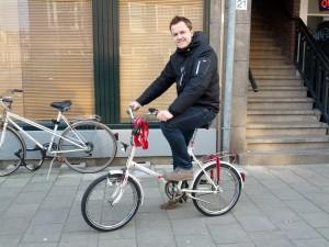 Far og den nye cykel