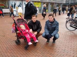Onkel, Far og Ida venter på Sinterklaas