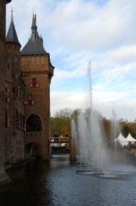 Springvand synkroniseret til julemusik foran slottet - så fint!