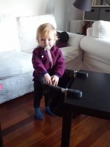 Ida viser lige stolen fra siden