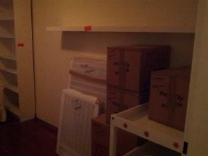 Idas værelse næsten pakket ned!
