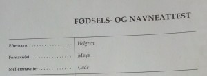 Frk. Helgrens navneattest