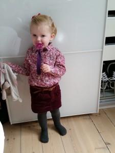 Store pigen klar til vuggestuen