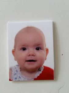 Maya har fået taget pasfoto