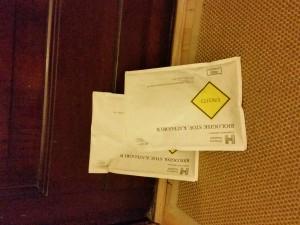 2/3 prøver klaret og klar til postkassen!