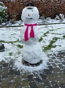 Idas første snemand