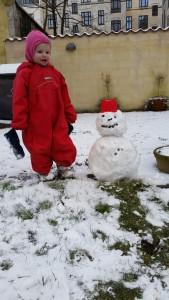 En lille snemand blev det til