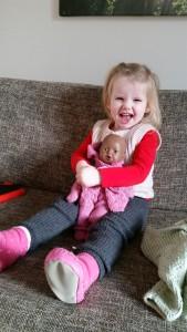Ida med sin yndlings Dukke Sally
