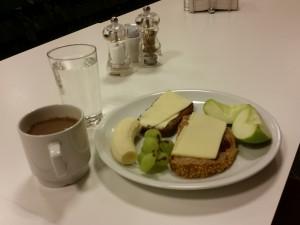Mors morgenmad på Oticon