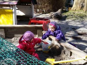 Sandslotsforberedelse