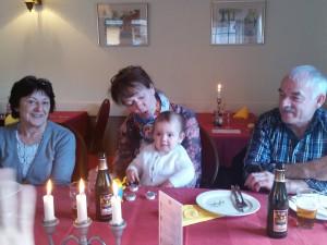 Fødselsdagsbarnet med 3 af bedsterne
