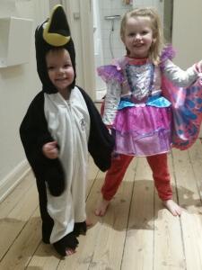 Pingu og sommerfugl til fastelavn