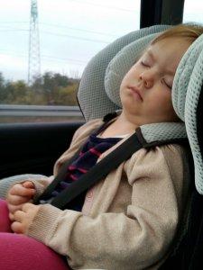 3 minutter efter bilen blev startet retur fra Odense sov Maya