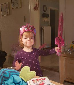 Mors lille Lego-prinsesse-kriger