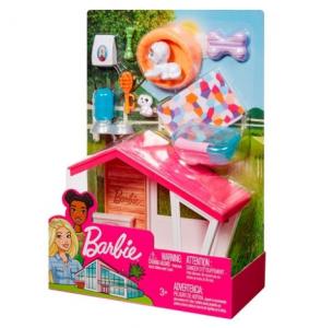 Barbie indoor accessory sæt med hundehus