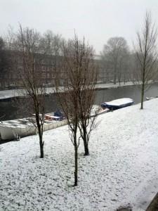 Snestorm i Amsterdam