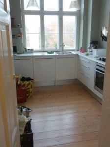 Køkkenet tilbage til næsten normal tilstand