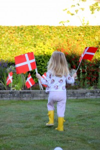 Haven pyntes med flag