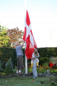 Flaget hejses