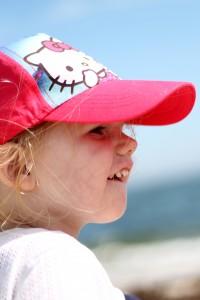 Ida beskuer stranden