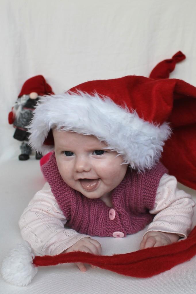 Den frække lille julenisse ønsker god jul!