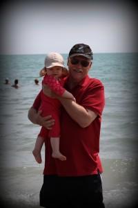 Ida og Farfar ved havet