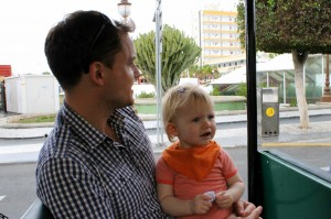 Far og Ida på togtur
