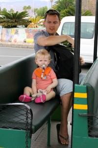 Far og Ida klar til togtur
