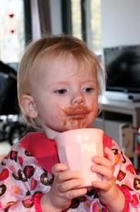 Når man er lidt syg må man få alle de boller og kakao man vil
