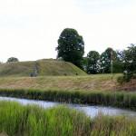 Charlottenlund Fort - det er ikke nemt at se at der gemmer sig en campingplads her bagved