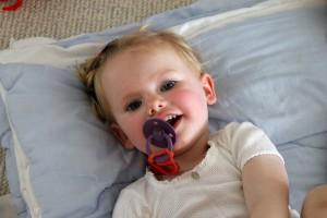 Ida fik feber som efterreaktion på sin vaccination