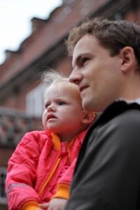 Ida og Far holdt godt øje med om brandfolkene fik slukket ilden