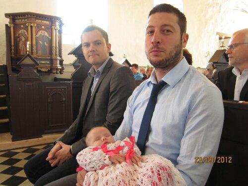 Ida med far og gudfar