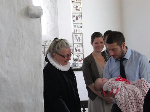 Ida bliver døbt